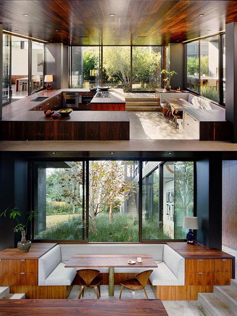 Không gian nhà bếp lãng mạn